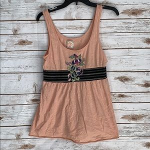 Free People Peach Tank Top Medium